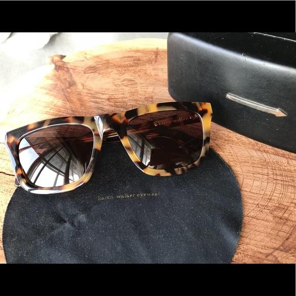 e1c6c009b2e Karen Walker Accessories - Karen Walker Deep Freeze Crazy Tortoise  sunglasses